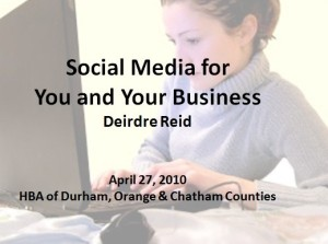 Social Media for You and Your Business