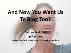 blogging, associations, membership organizations, nonprofits, blogs