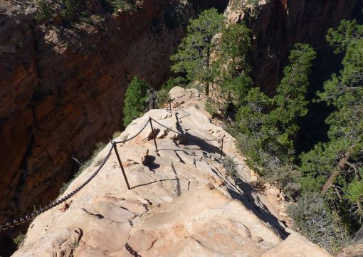 Angel's Landing - don't look down! (photo by Dale Beckett/Flickr CC license)