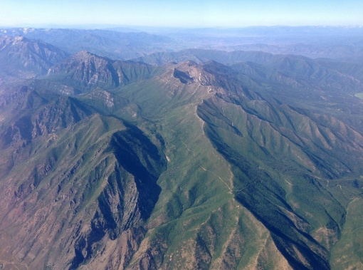 Provo Peak, Utah from the plane by Miguel Vieira