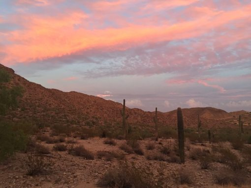 South Mountain Park in Phoenix at sunset